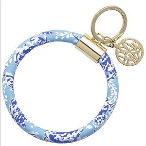Lilly Pullitzer round keychain turtley awesome 🆕